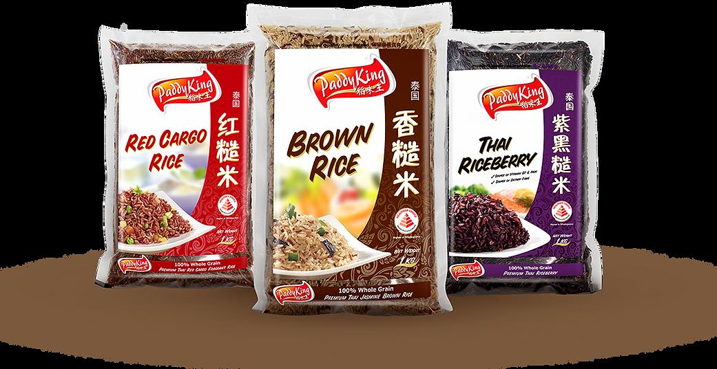 PaddyKing Healthier Choice Red Cargo Rice Brown Rice Thai Riceberry