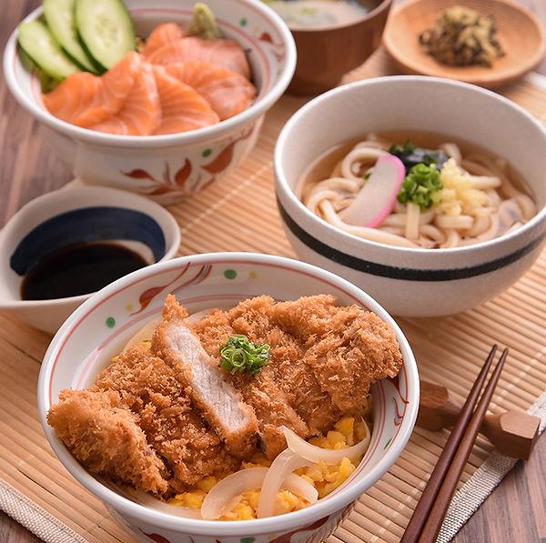 YAYOI Salmon Don Rice Bowl Katsu Don Rice Bowl Udon