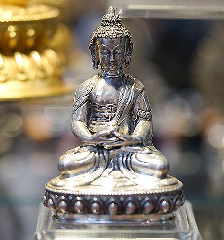 Silver Gilded Buddha Statue