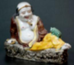liu hai porcelain statue