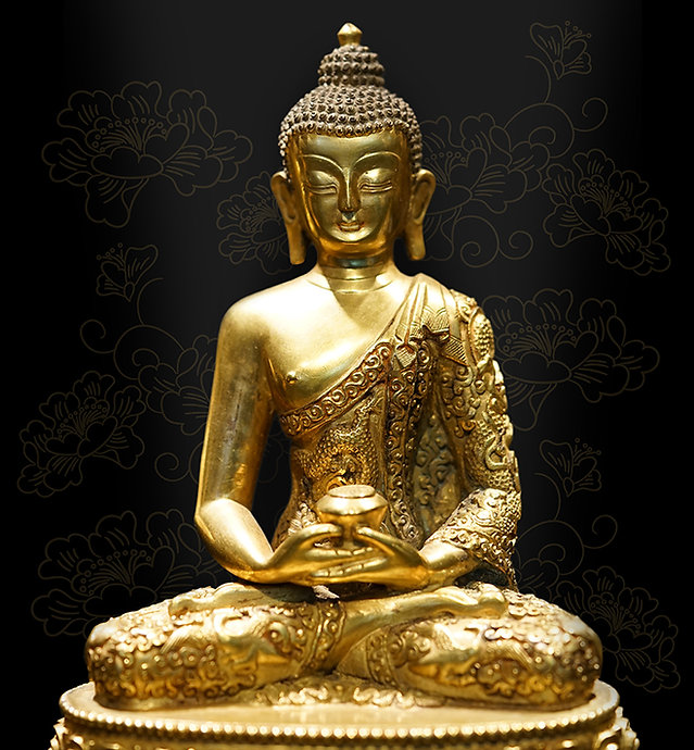 Gold Gilded Buddha Statue