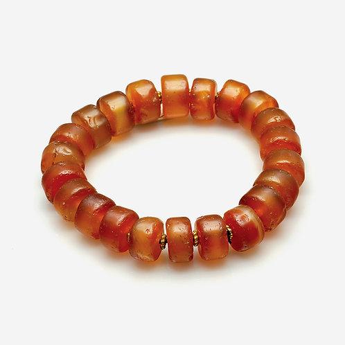 Old Red Agate Carnelian Bracelet