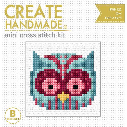 Cross Stitch Mini Owl Kit