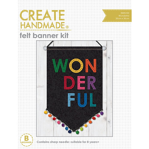 Wonderful Felt Banner Kit