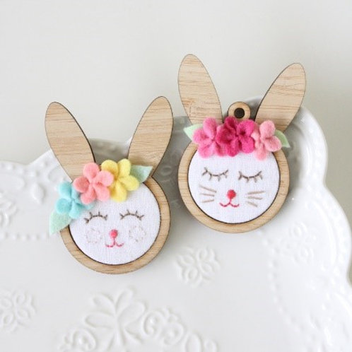 Beatrice Bunny Mini Hoops