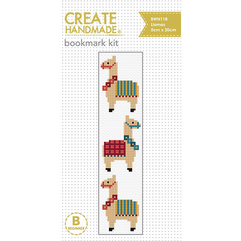 Llama Bookmark Cross Stitch Kit