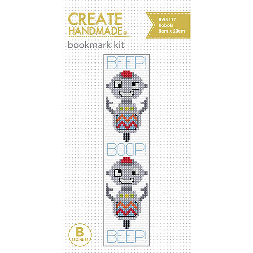Robot Bookmark Cross Stitch Kit