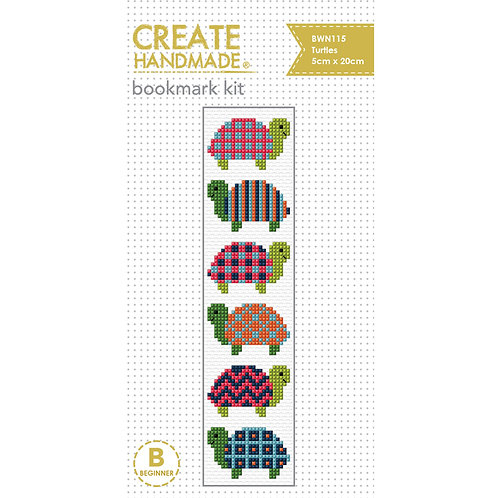 Turtle Bookmark Cross Stitch Kit