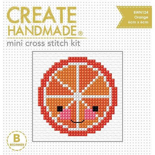 Cross Stitch Mini Orange Kit