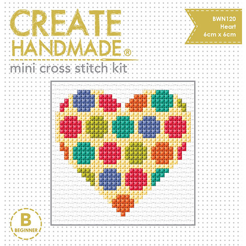 Cross Stitch Mini Heart Kit