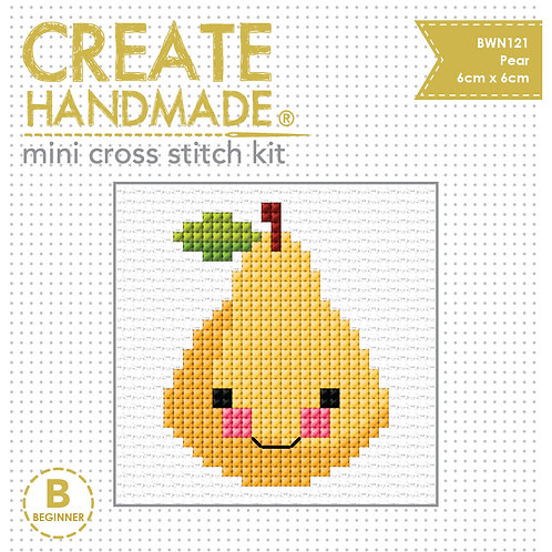 Cross Stitch Mini Pear Kit