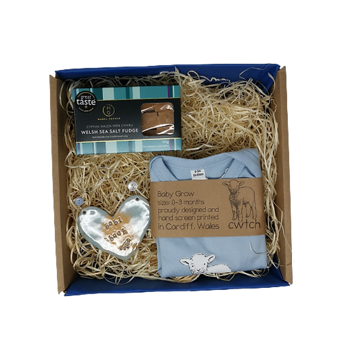 New Baby/Baby Shower Blue Gift Set