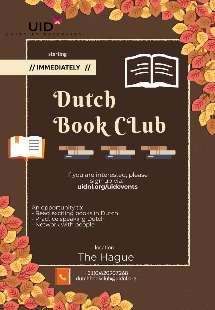 UID Dutch bookclub 2019 fall session fly