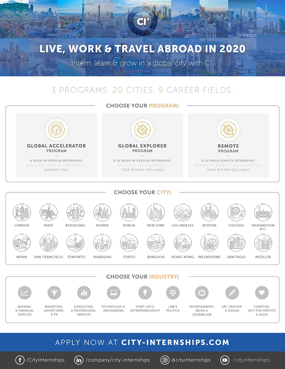 City Internships 2019 20 Intern And Study Abroad Program
