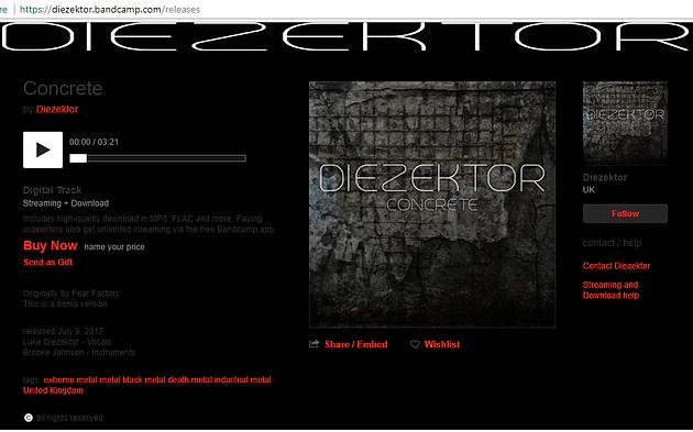 DIEZEKTOR RELEASE FIRST EP TASTER & Bandcamp Page   diezektor