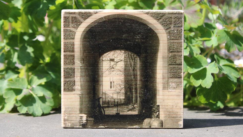 Holzbild Tor