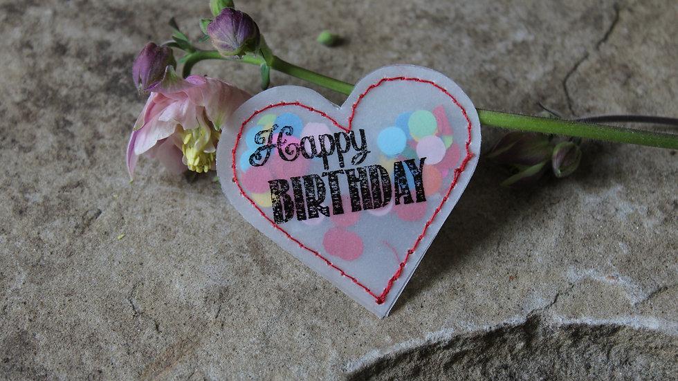 """Herz """"Happy Birthday"""""""