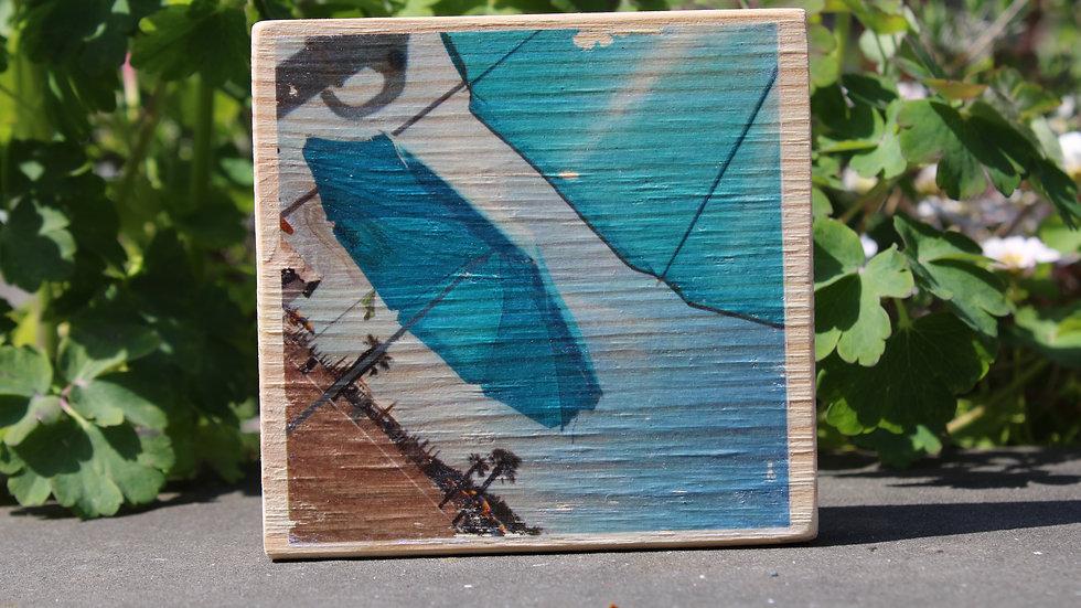 Holzbild Sonnenschirm