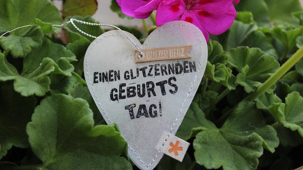 """""""Herz """"Einen glitzernden Geburtstag"""""""""""