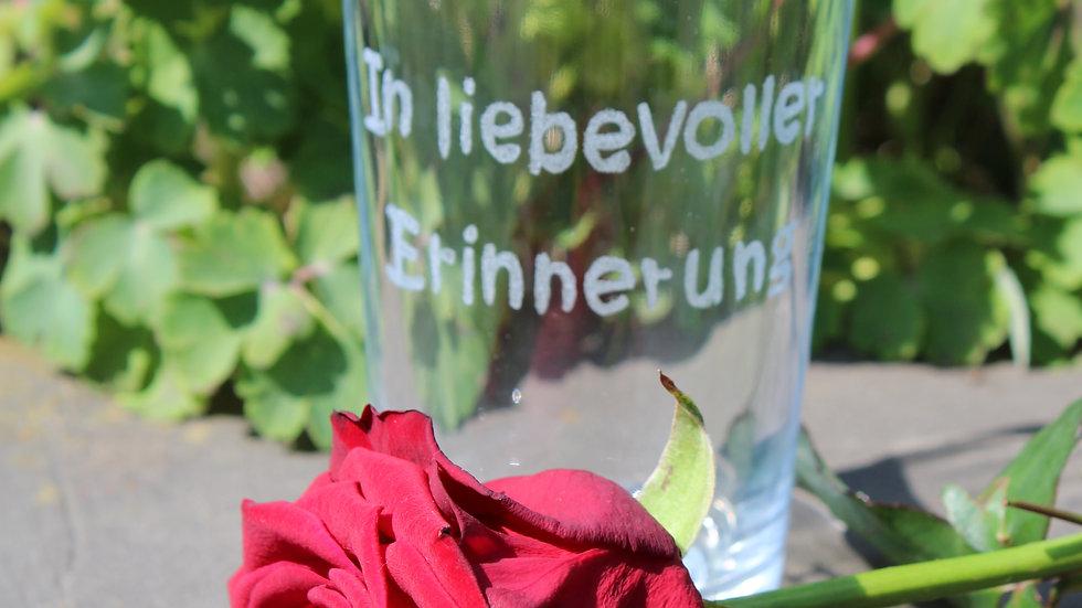 """Glas""""In liebevoller Erinnerung"""""""