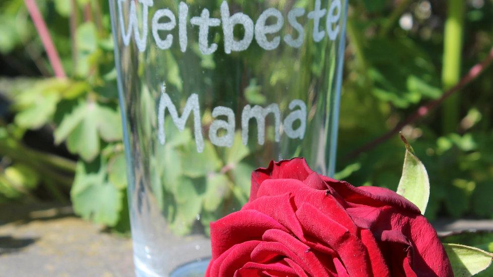 Trinkglas Weltbeste Mama