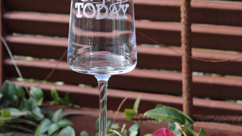 "Sektglas ""Enjoy today"""