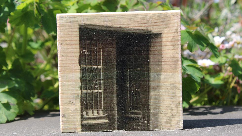 Holzbild Türe