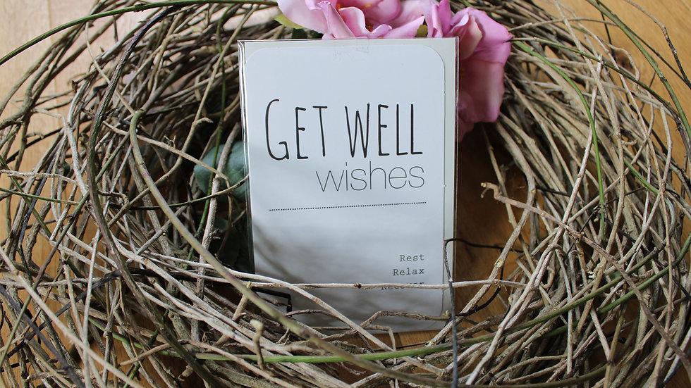 """Klappkarte """"Get Well Wishes"""""""
