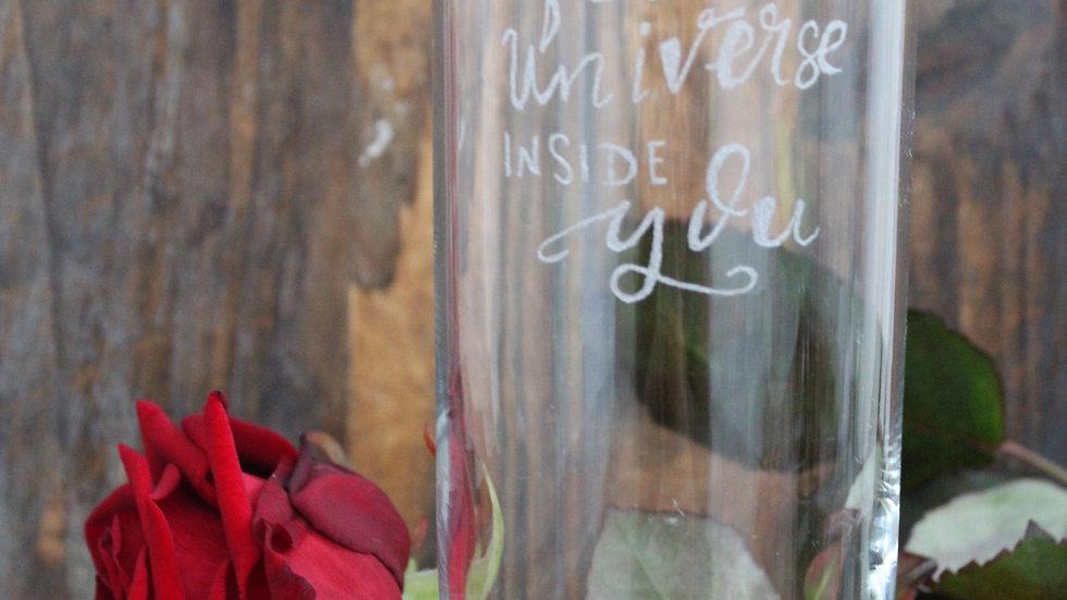 Trinkglas feel the Universe inside you