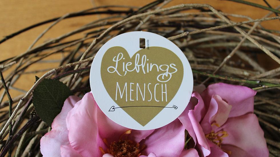 """Minikarte """"Lieblingsmensch"""""""