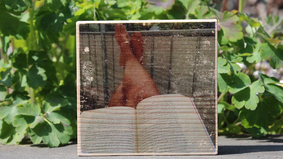 Holzbild Buch