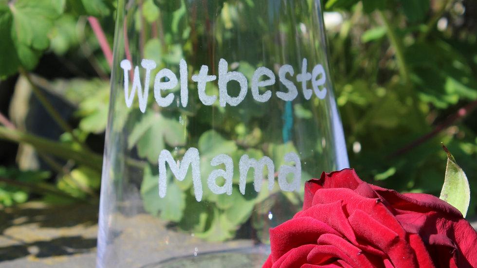 "Weinglas ""Weltbeste Mama"""