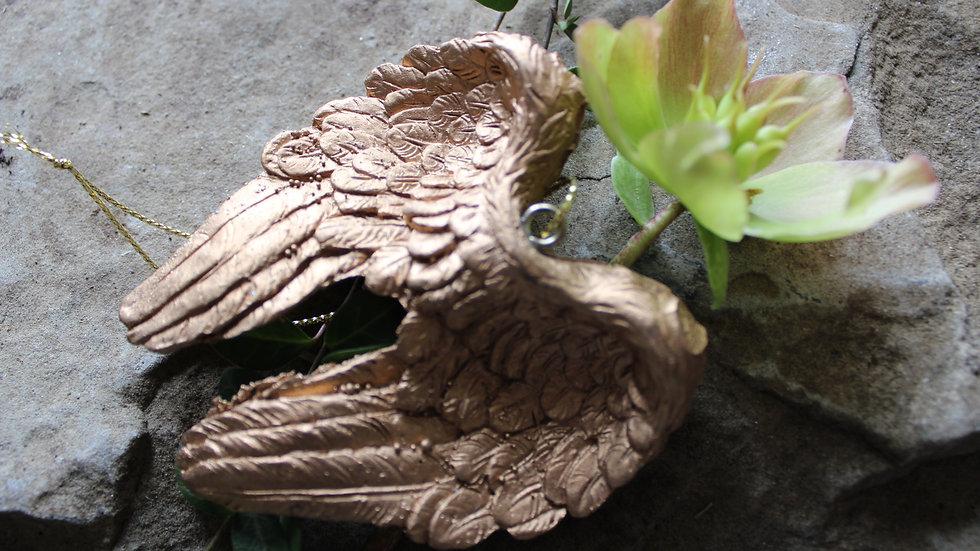 Engelflügel silber, kupfer oder gold