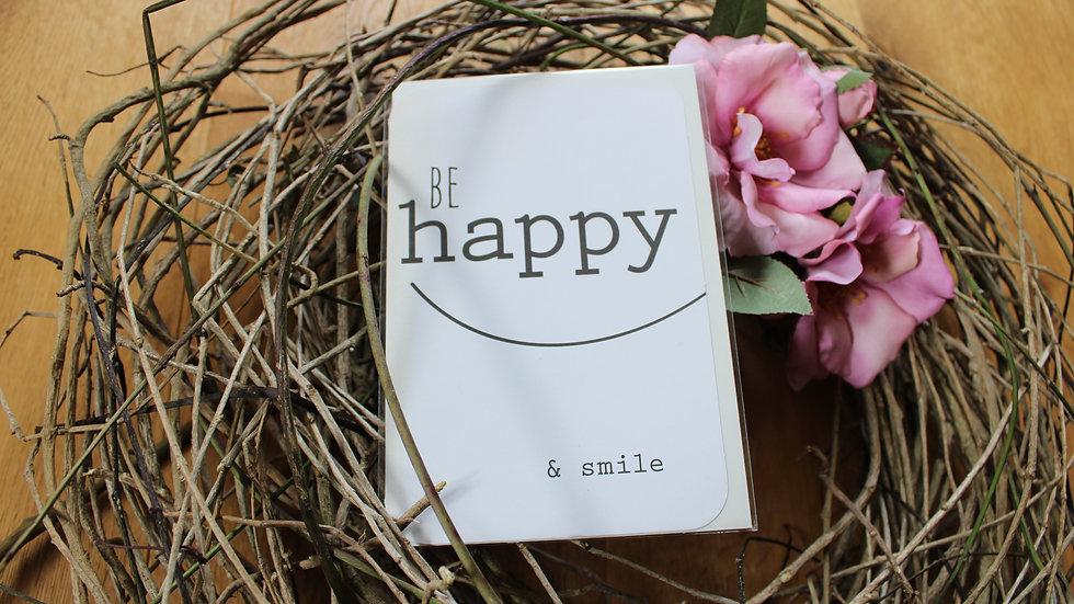 "Klappkarte ""Be happy"""