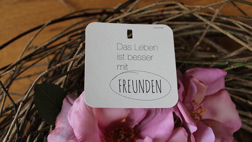 """Minikarte  """"Das Leben ist besser mit Freunden"""""""
