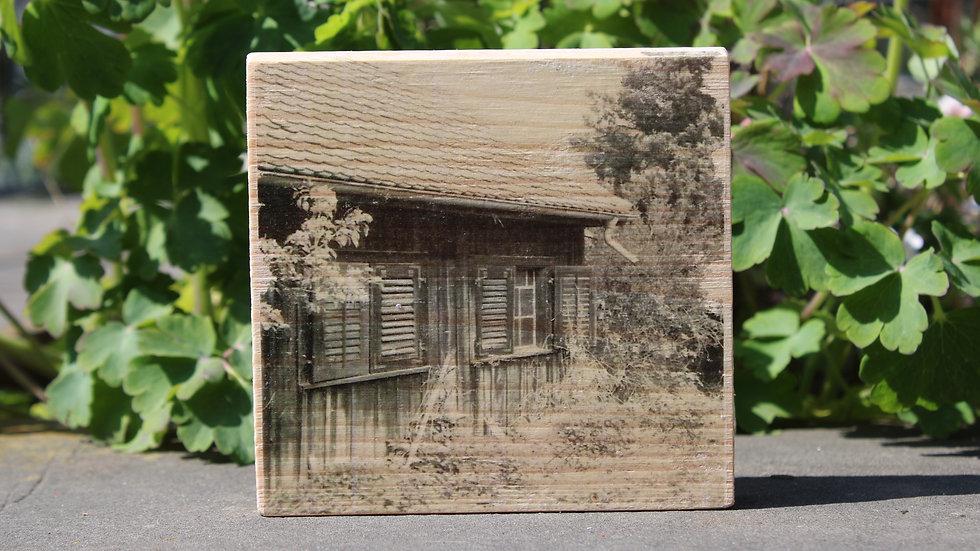 Holzbild Haus