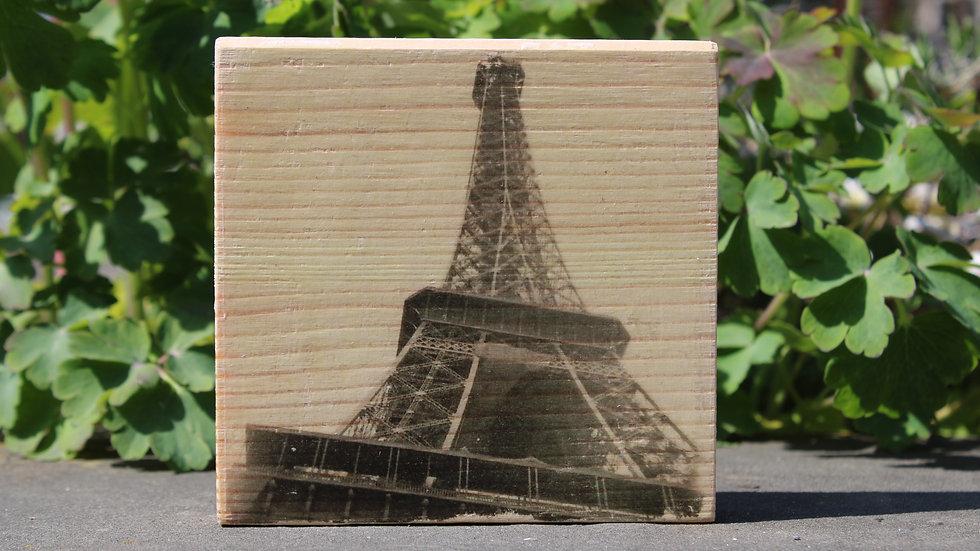 Holzbild Eifelturm