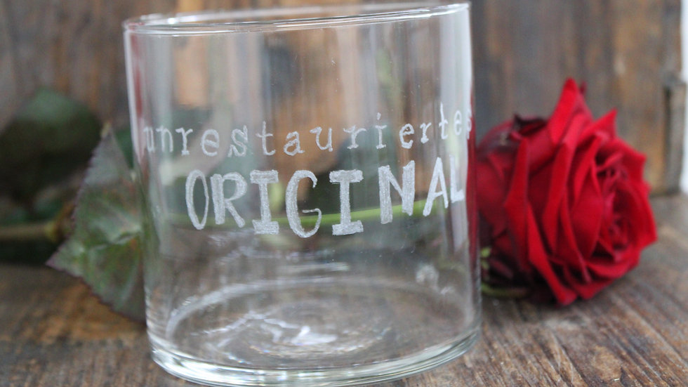 "Glas ""Unrestauriertes Original"""