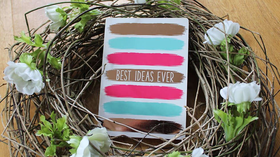 "Notizbuch ""Best Ideas Ever"""