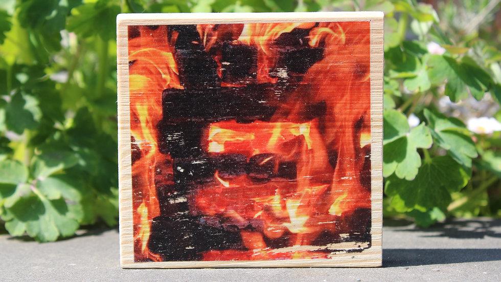 Holzbild Feuer