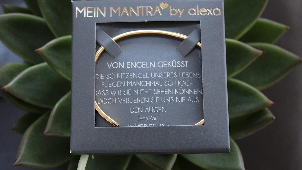 """Mantraarmreif gold """"Von Engeln geküsst"""""""