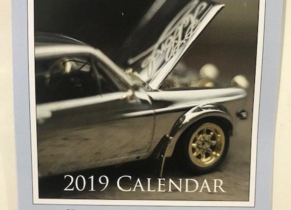 Silver Car Calendar 2019