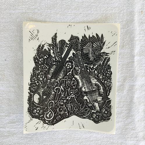 Block Print Sticker