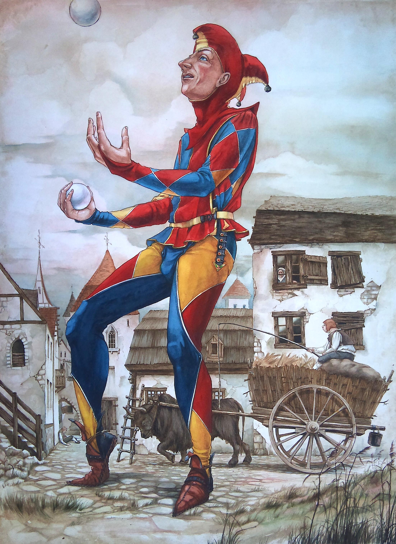 Harlequin juggler