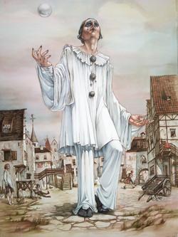 Pierrot juggler