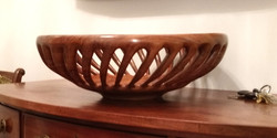 Walnut Carved Bowl 19.5x6.5 Trevillian 2