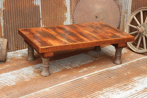 Large Steel Leg Coffee Table