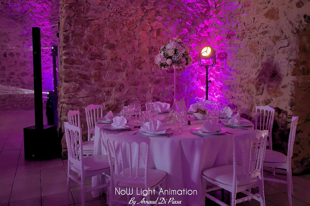 Mariage, Château de Sénéguier, décoration, lumière, DJ, Haut de gamme,