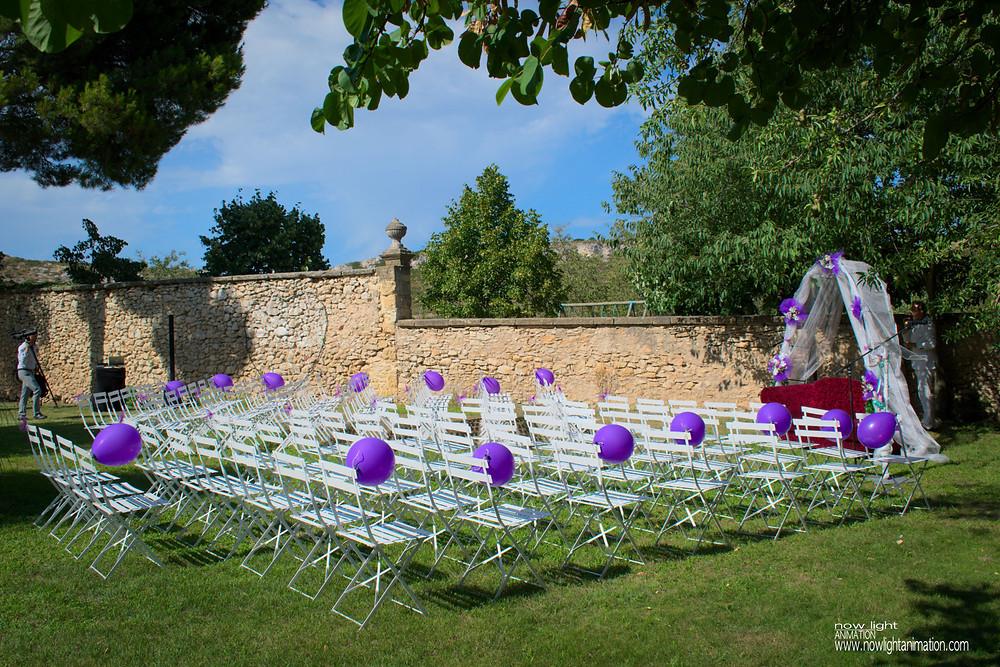 Sonorisation de cérémonie laïque pour un mariage au Château de Sénéguier à Lançon de Provence.