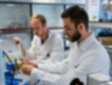 watter experts in het laboratorium